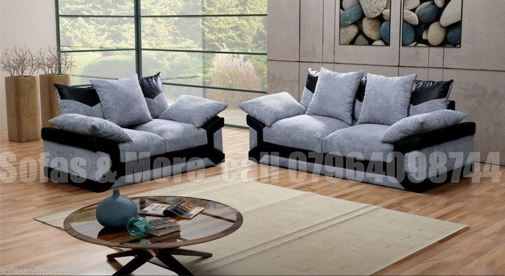 Dino Fabric Corner Sofa Or 2 3 Seater Brown Grey Jumbo Cord