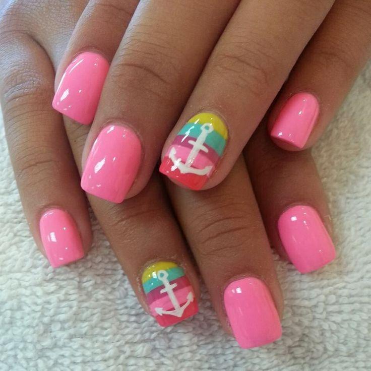 60 Cute Anchor Nail Designs - 60 Cute Anchor Nail Designs Anchor Nails, Makeup And Nail Nail