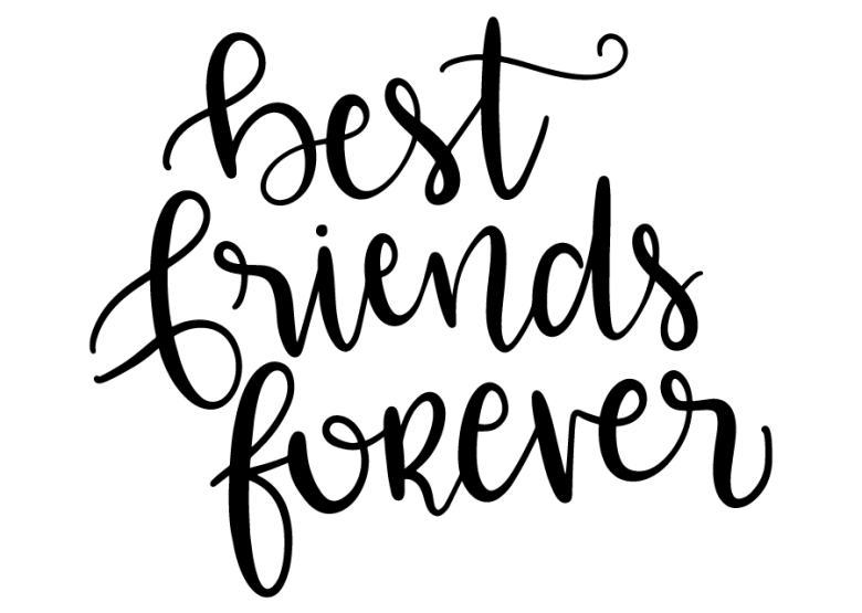 Best friends forever | Friends font, Friends clipart, Svg