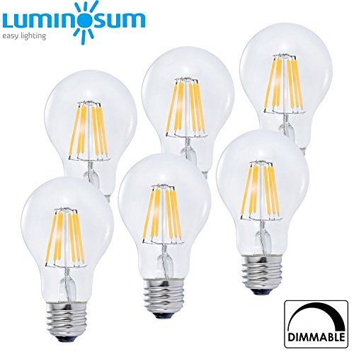 LUMINOSUM LED Filament Bulb Dimmable 6W 60W Equivalent