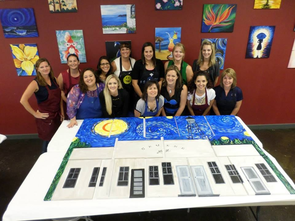 Teambuilding at painting with a twist new braunfels tx for Painting with a twist greenville tx
