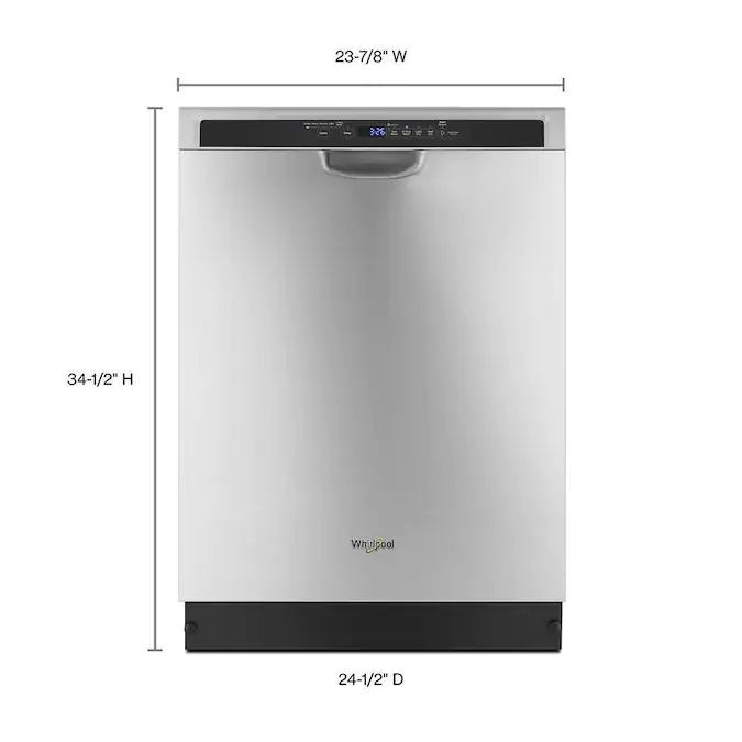 Whirlpool 50 Decibel Front Control 24 In Built In Dishwasher