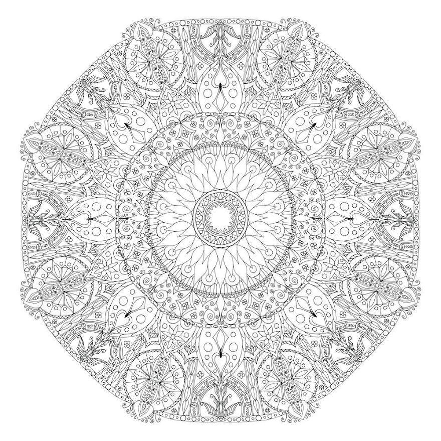 I Create Coloring Mandalas And Give Them Away For Free ...Detailed Mandala Coloring Pages For Adults