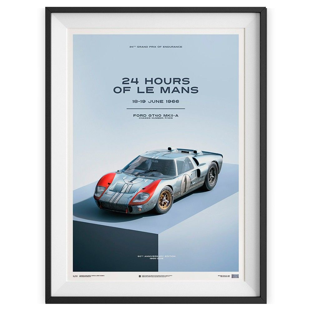 Affiche Ford Gt Style B