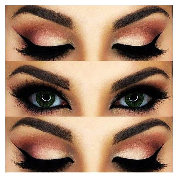 Bold Eyeliner Makeup Step By Tutorial Ohhsheglows Liked On Polyvore Featuring Beauty Products And Eye