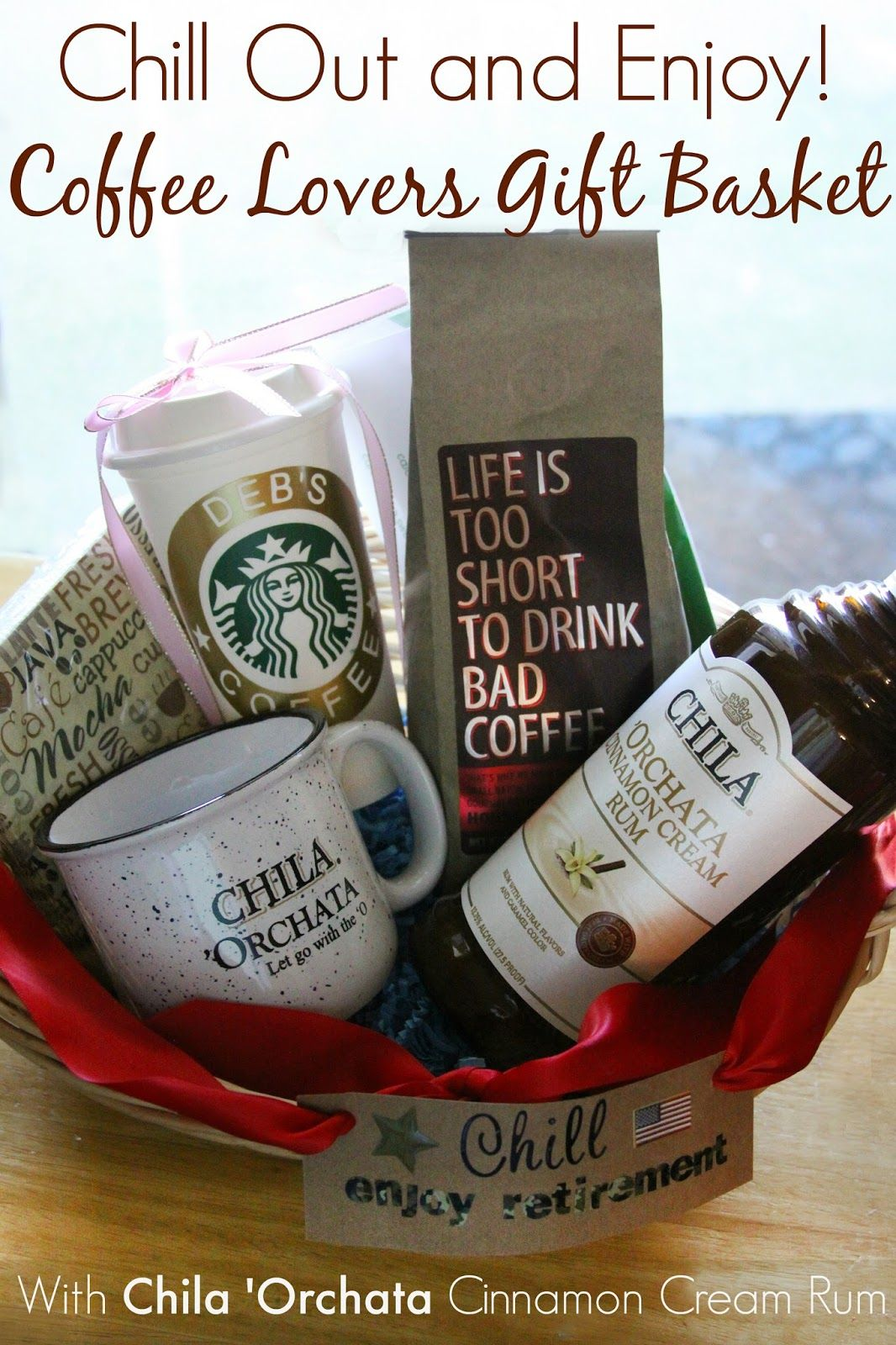chill out and enjoy! coffee lovers chila 'orchata gift basket