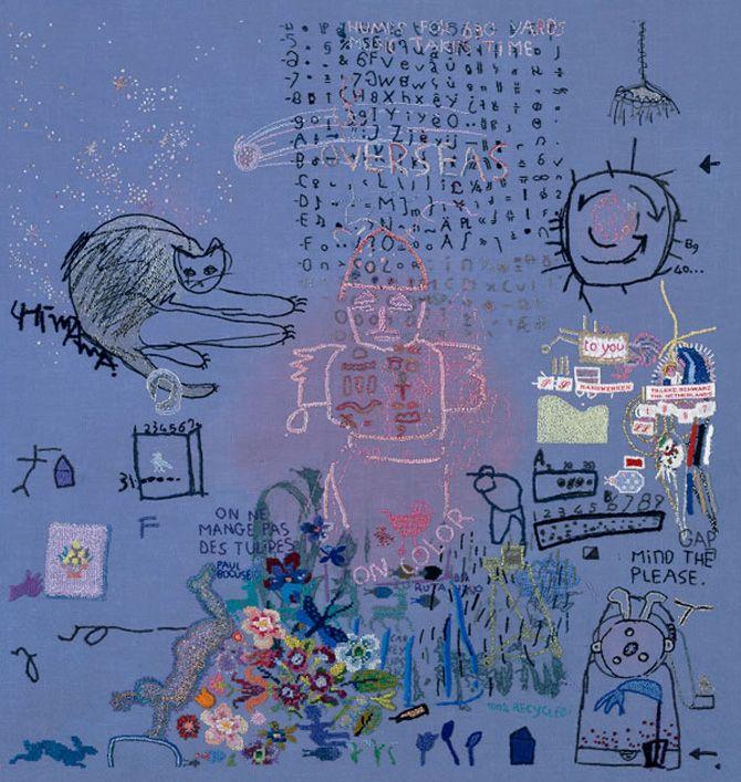 Tilleke Schwarz Interview Art Is In My Genes Textileartist Org Stitching Art Textile Artists Embroidery Art