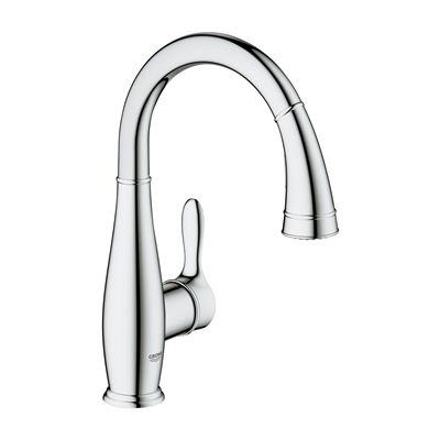 Grohe 30296 Parkfield Prep Sink Dual-spray Pull-down Kitchen Faucet ...