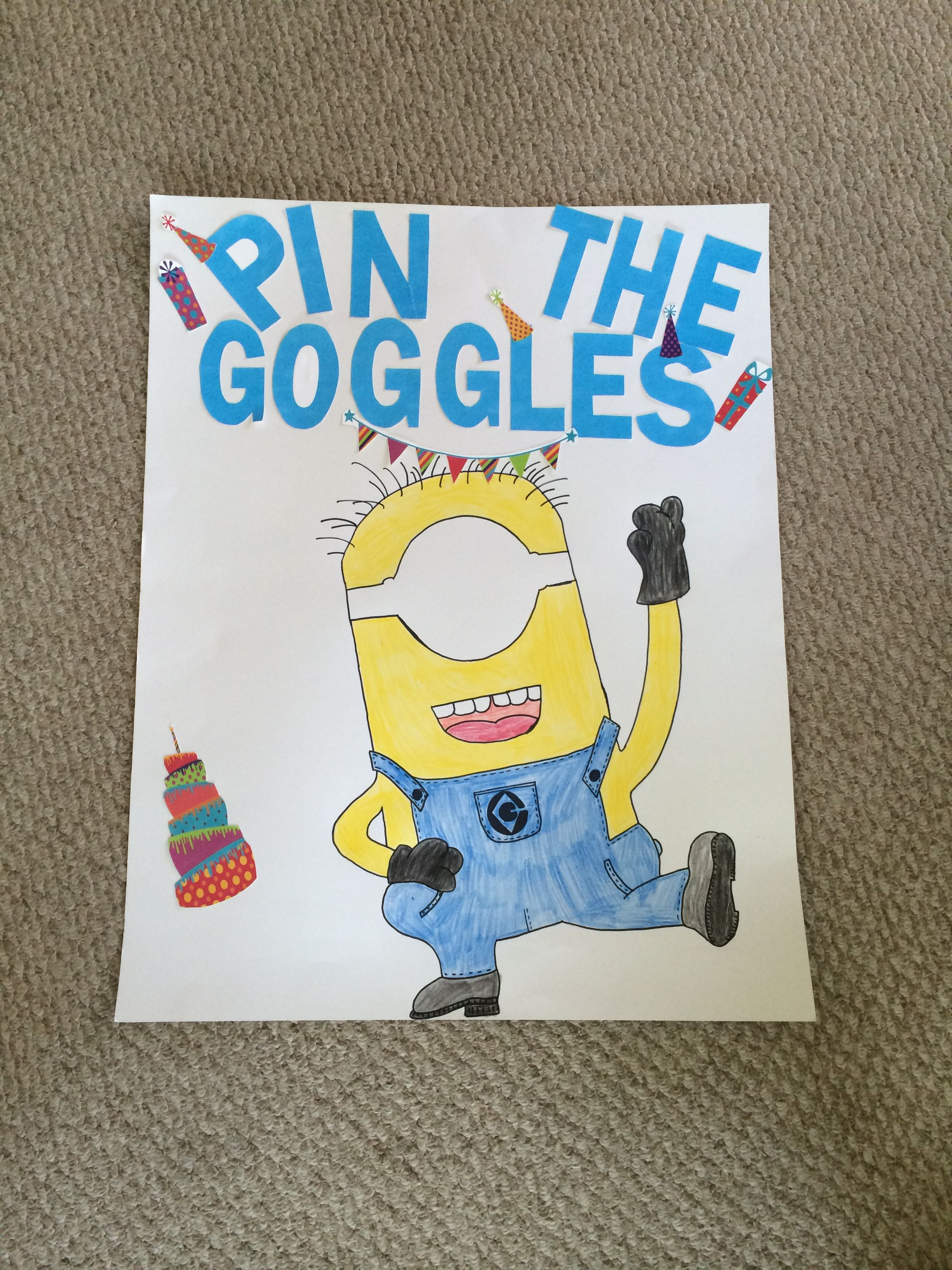Pin the googles on the minion game