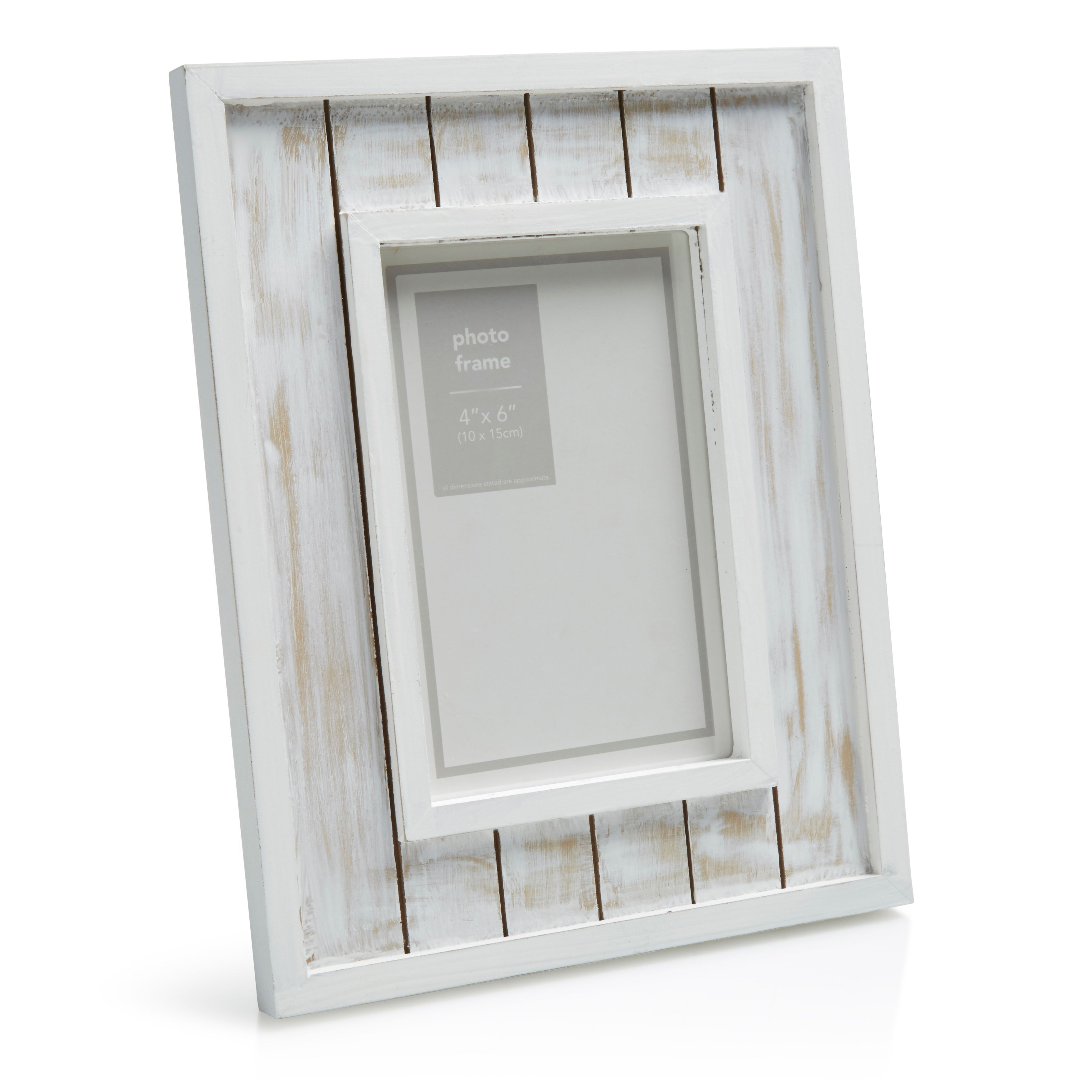 White Distressed Single Frame Picture Frame (H)233mm x (W)184mm ...
