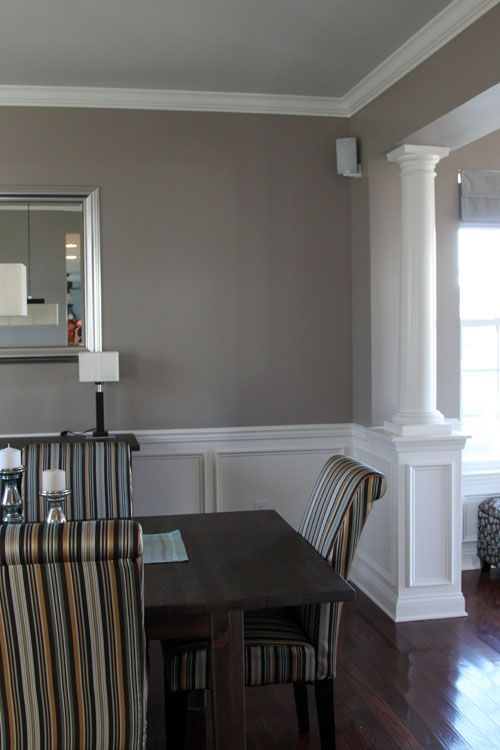 We've Already Got The Chair Rail  Would Be Pretty To Finish Out Simple Chair Rails In Dining Room Design Ideas