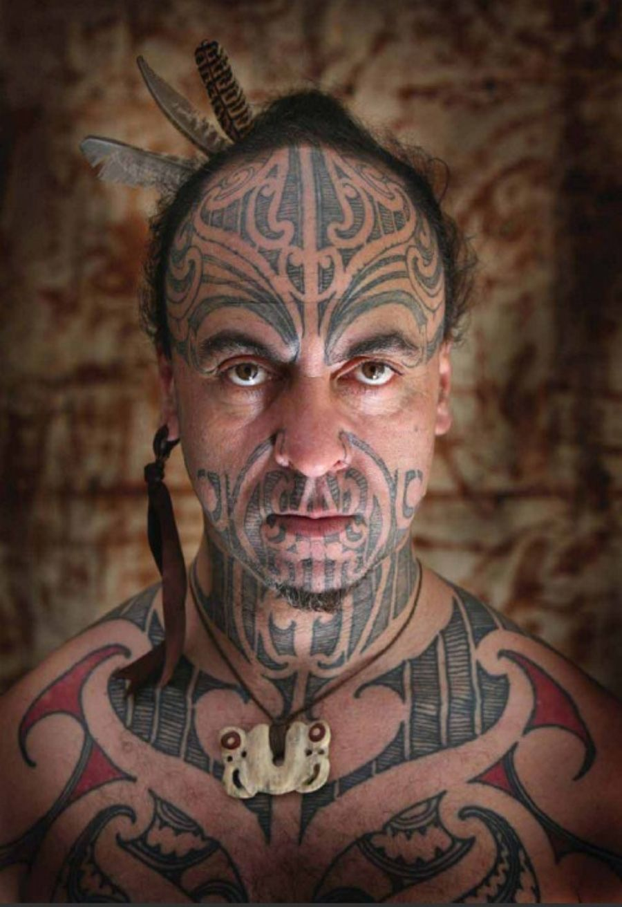 Maori Warrior Face Tattoo Pin De Gik All In Del  Ink Lovers On