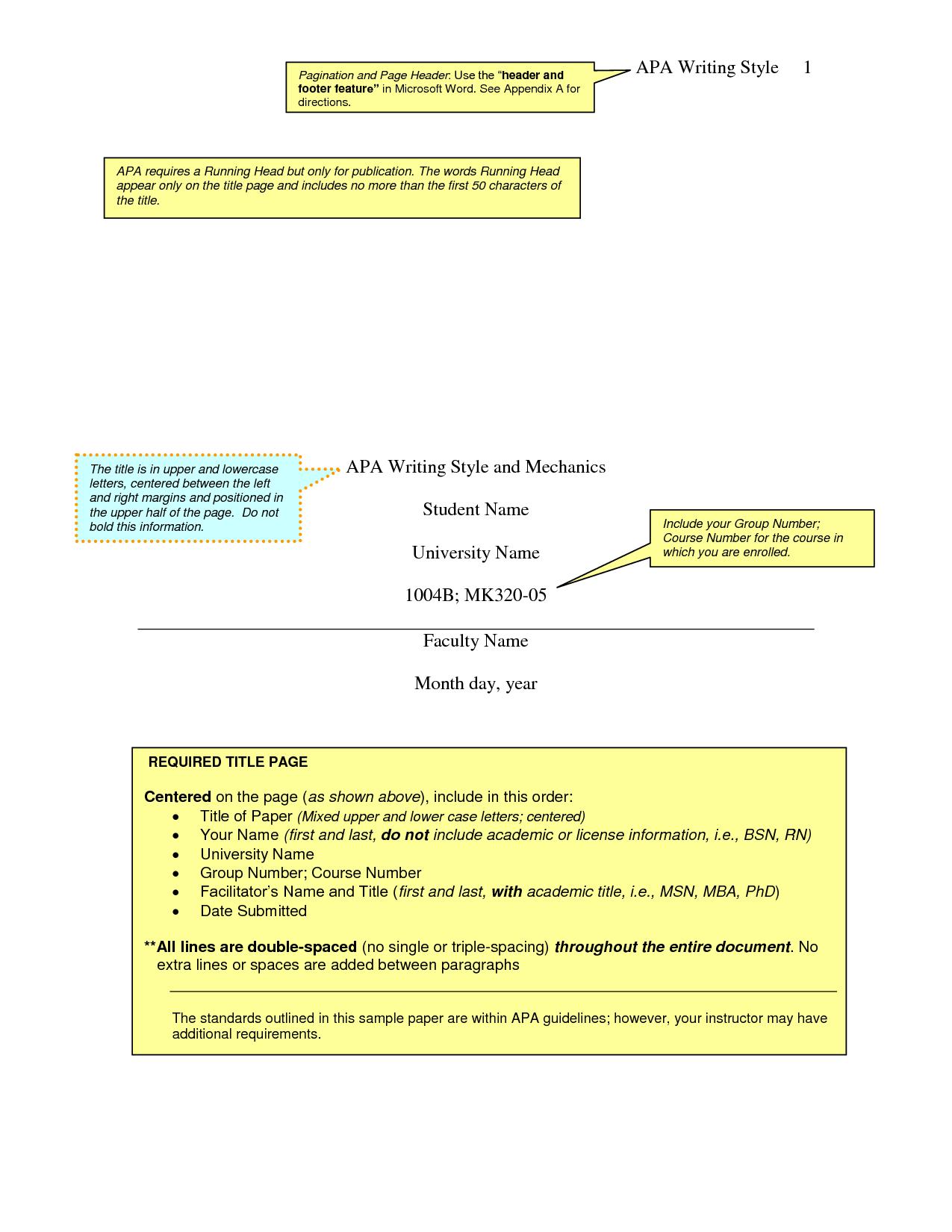 apa format sample paper word