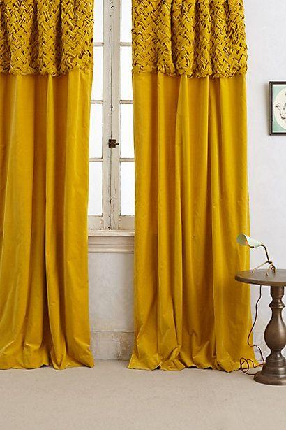 Braided Velvet Curtain gelbe Vorhänge, Vorhänge und Gelb - schone schlafzimmergardinen wohlfuhlfaktor