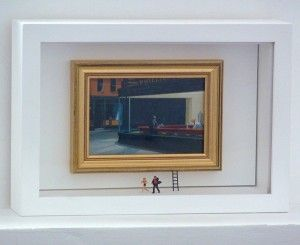 Un détournement comme on les aime, d'une célèbre oeuvre de Hopper... Night_Runners by Gaspard Mitz.