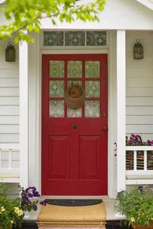 For the Guest house doors- paired with black shutters and the brick ...