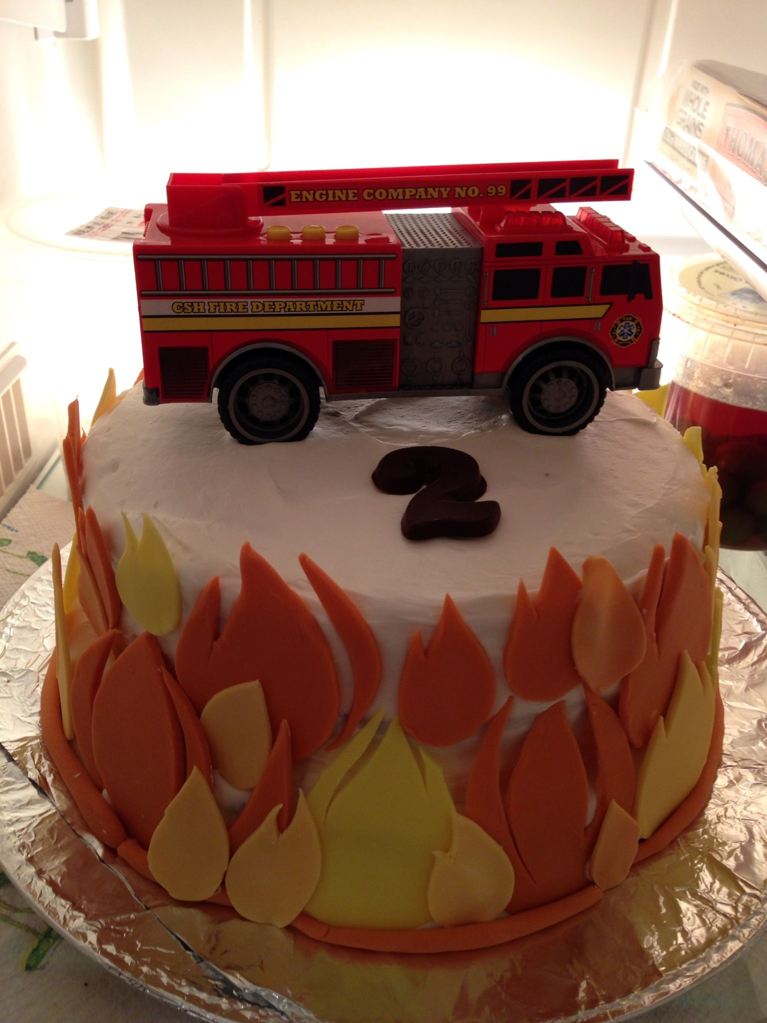 Fire truck cake My Creations Pinterest Fire truck cakes