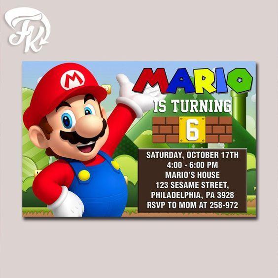 super mario bross design birthday party