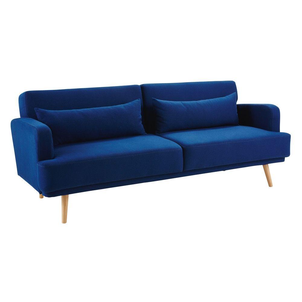 Canapé Lit 3 Places Bleu Roi Home Canapé Lit Canapé Convertible