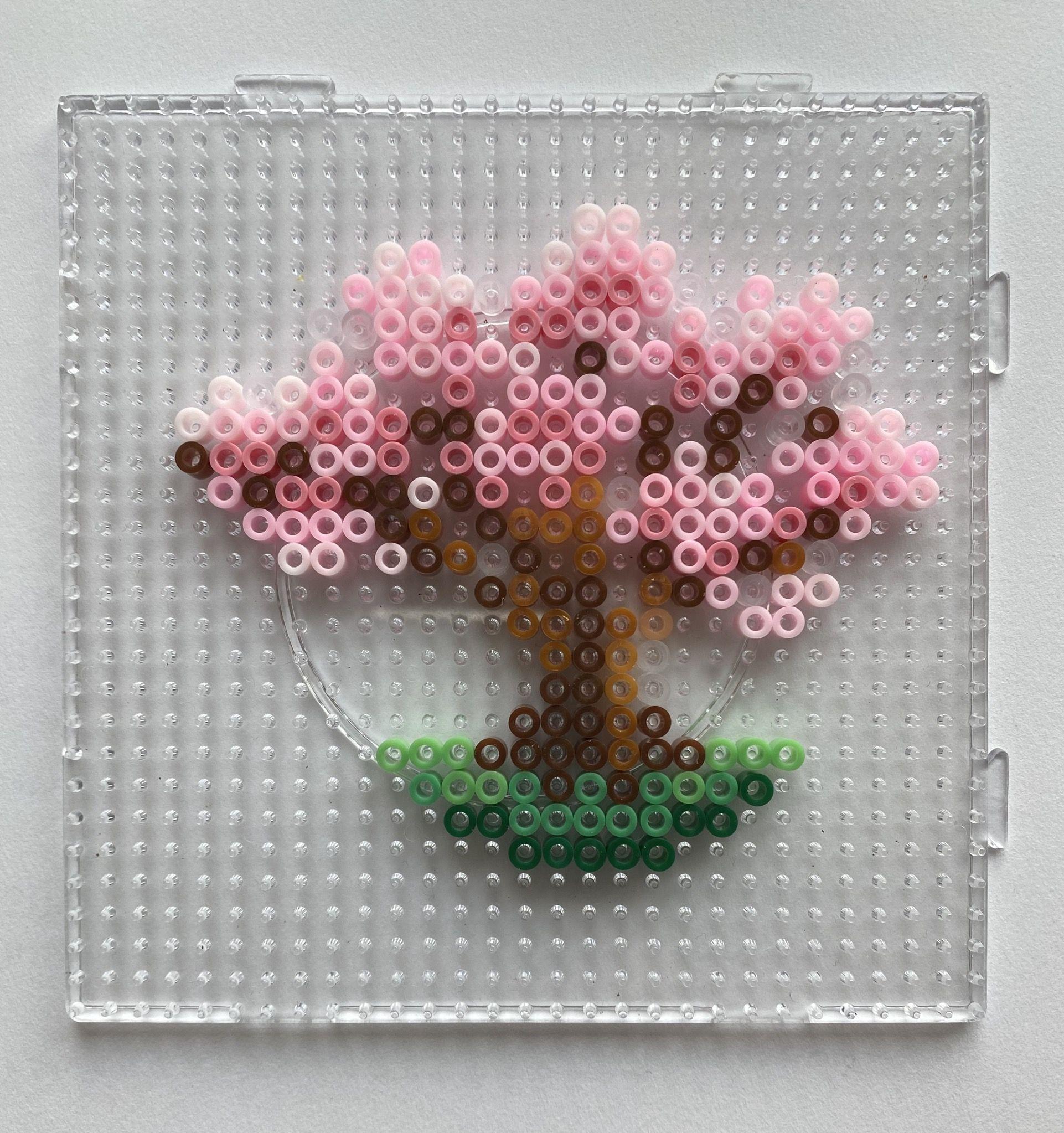 Cherry Blossom Tree Perler Beads In 2021 Hama Beads Design Hamma Beads Ideas Perler Bead Disney