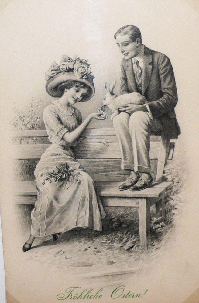 Днем рождения, ретро открытки начала век
