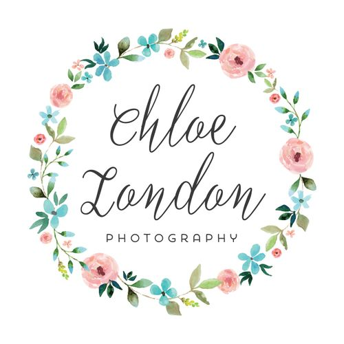 floral wreath logo customized with your business name