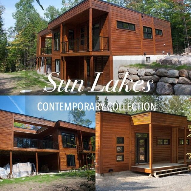 Sun Lakes This Beautiful Contemporary Home Brings The Outside In With 5 Sets Of Sliding Patio Doors Modern Floor Plans House In The Woods Sliding Patio Doors