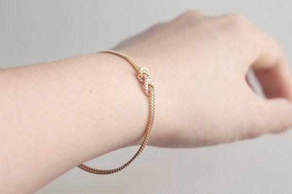 Infinity Love Knot Gold Bracelet 14k Gold Filled Sailors Knot