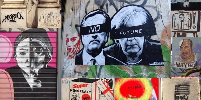 """""""ABC Project"""": le regard du street-art sur la crise grecque http://culturebox.francetvinfo.fr/expositions/evenements/abc-project-le-regard-du-street-art-sur-la-crise-grecque-a-la-centrifugeuz-216661 …"""