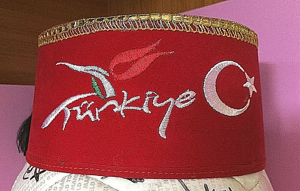 Adults Red Fez Tarboosh Hat Moroccan Turkish Aladdin Dress Up Costume Accessory