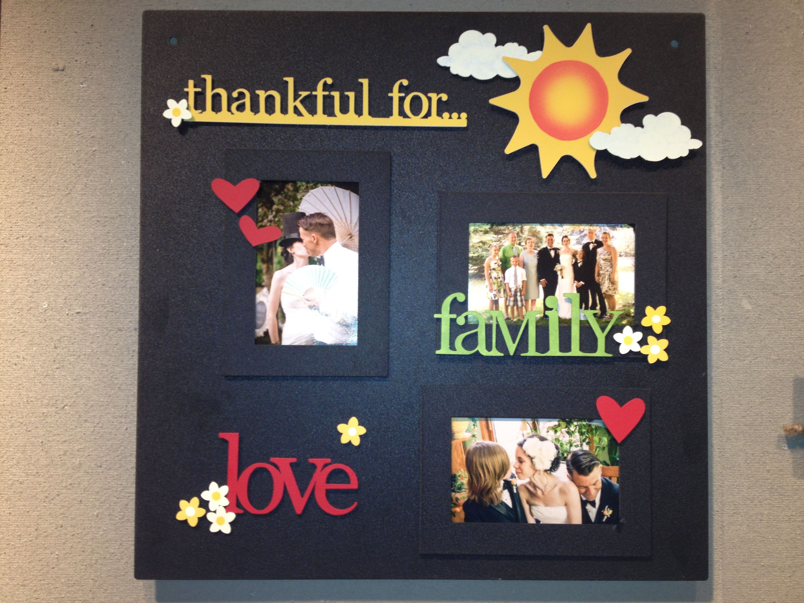 Thankful For Board Made With Memo Board Frames And Adornments By