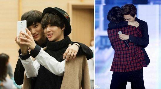 15 Lovable K Pop Idol Best Friends Best Friends Kpop Couples Kpop