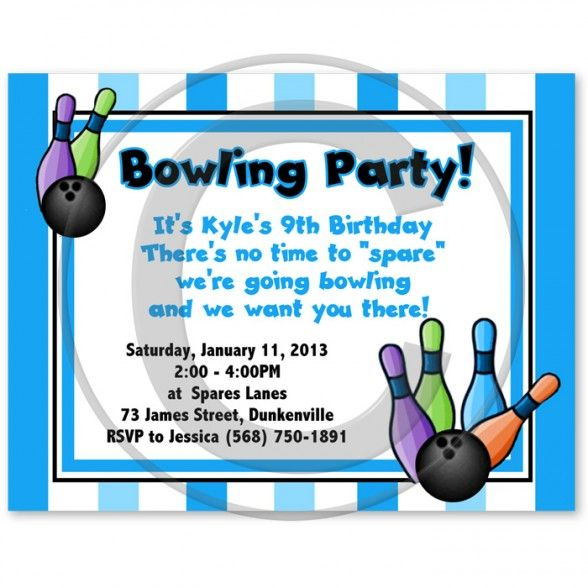 Captivating Bowling Themed Birthday Party Invitations Inspiration Invitation Card Bowling Birthday Party Invitations Bowling Party Bowling Birthday Party