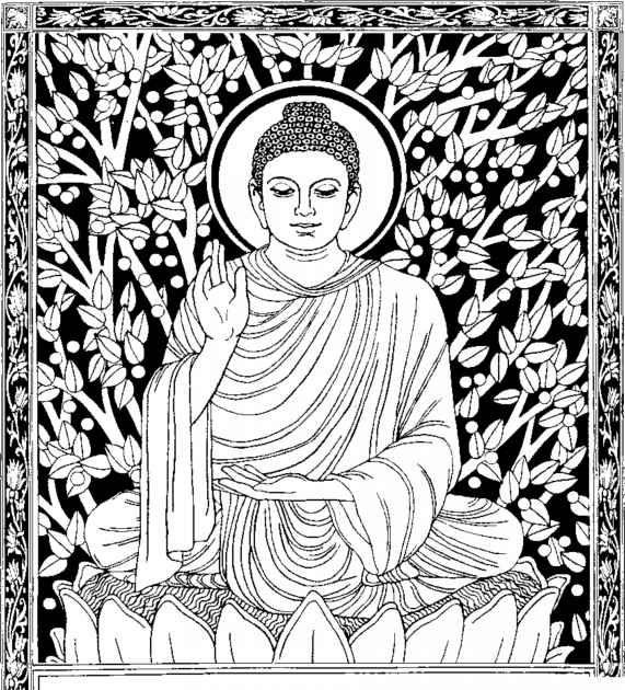 Coloring Page Hindu Mythology Buddha Gods And Goddesses 1