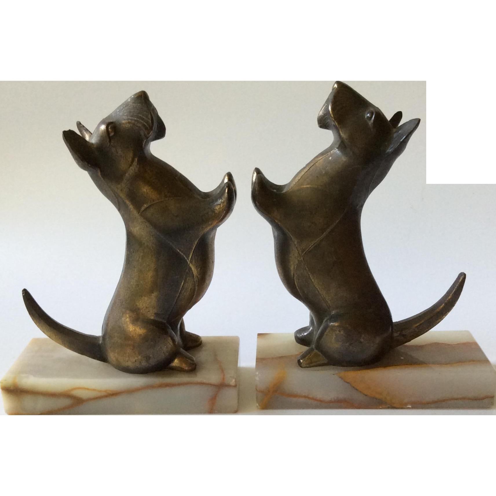 Art Deco Scottish Terrier Bookends