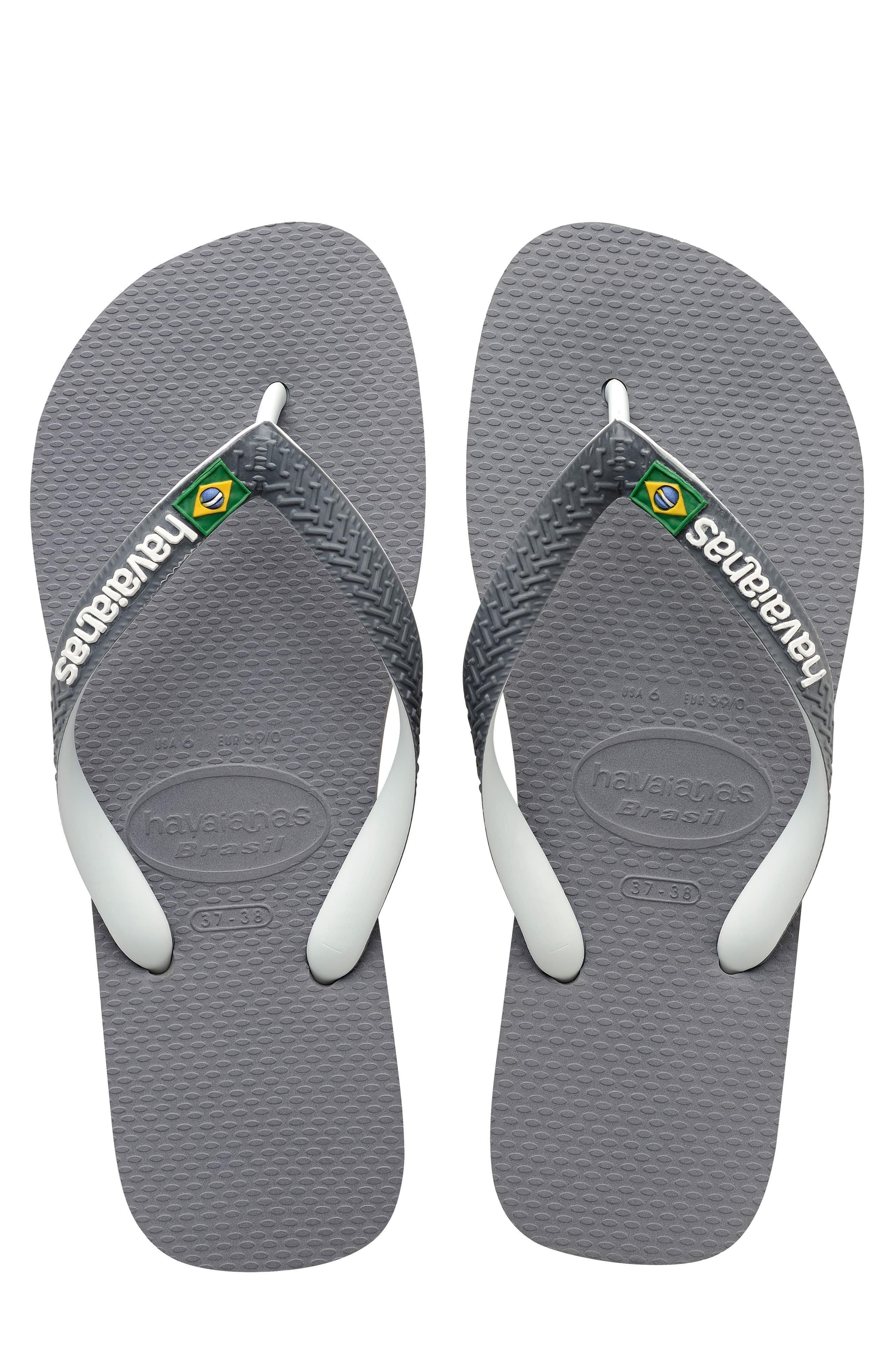 best cheap reliable quality Men's Havaianas Brazil Mix Flip Flop, Size 13 M - Grey in ...