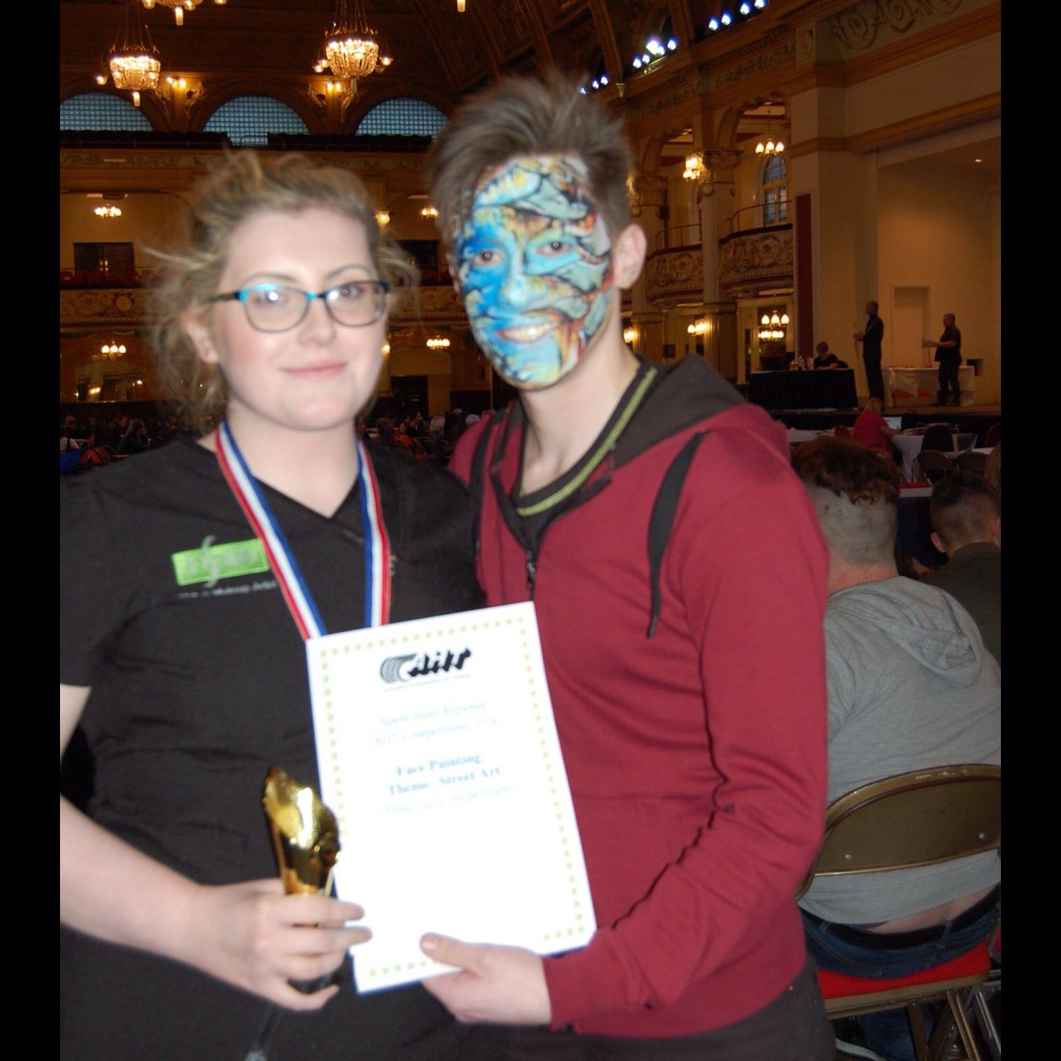 Emily With Face Painting Model At Aht Area Heat Compeion 2016 Street Art Theme Rothcoll