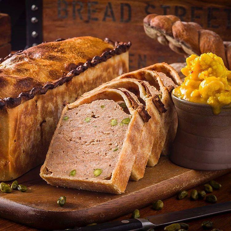 Pork and pistachio pie, hot crust pasty. Part of our British #PieWeek!!! #BSKHongkong