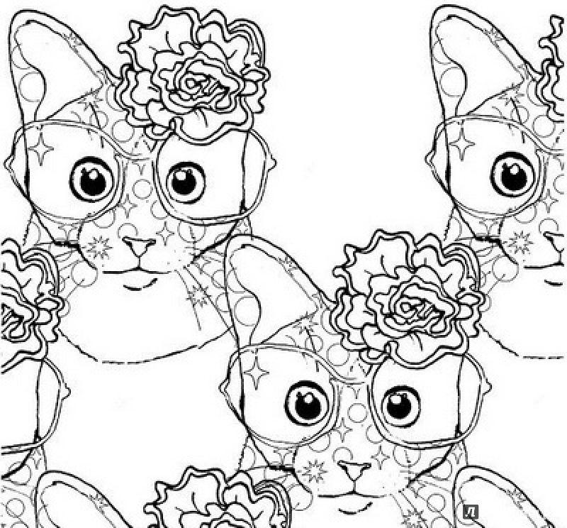 Иллюстрация 5 из 47 для Кототерапия. Раскраска-антистресс ...