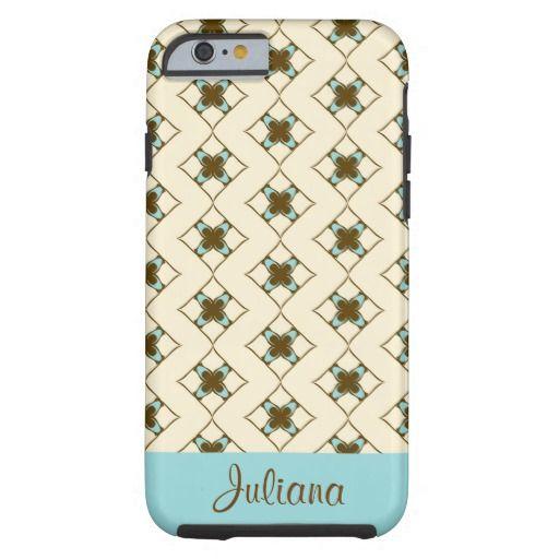 Girl talk - Aqua Customizable Case-Mate Tough iPhone 6 Case