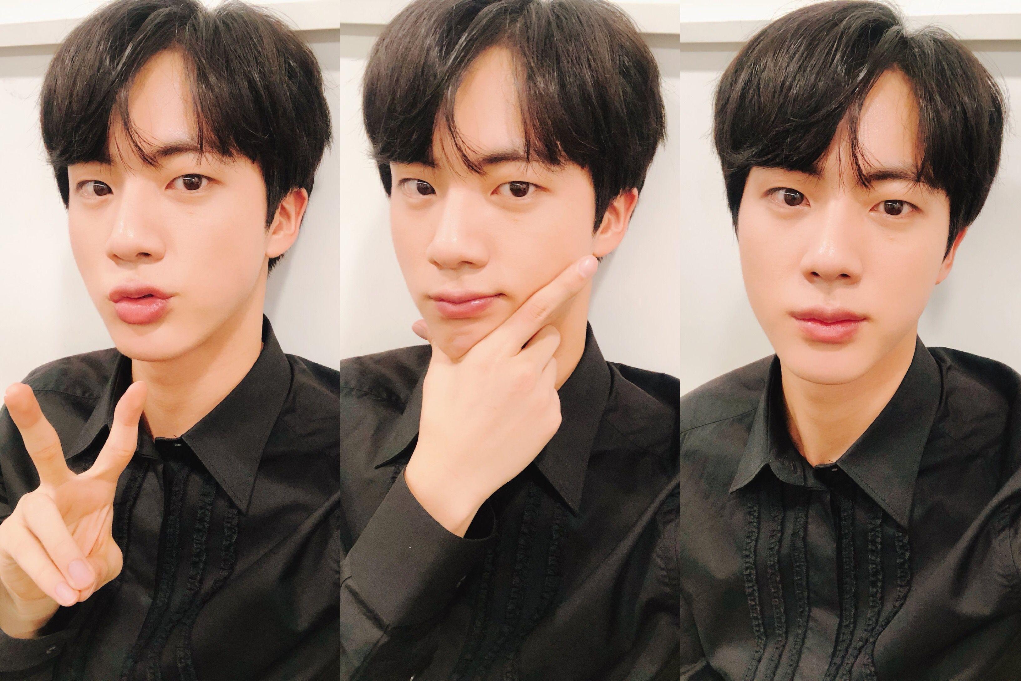 Step cutting hairstyle boy jin  bts