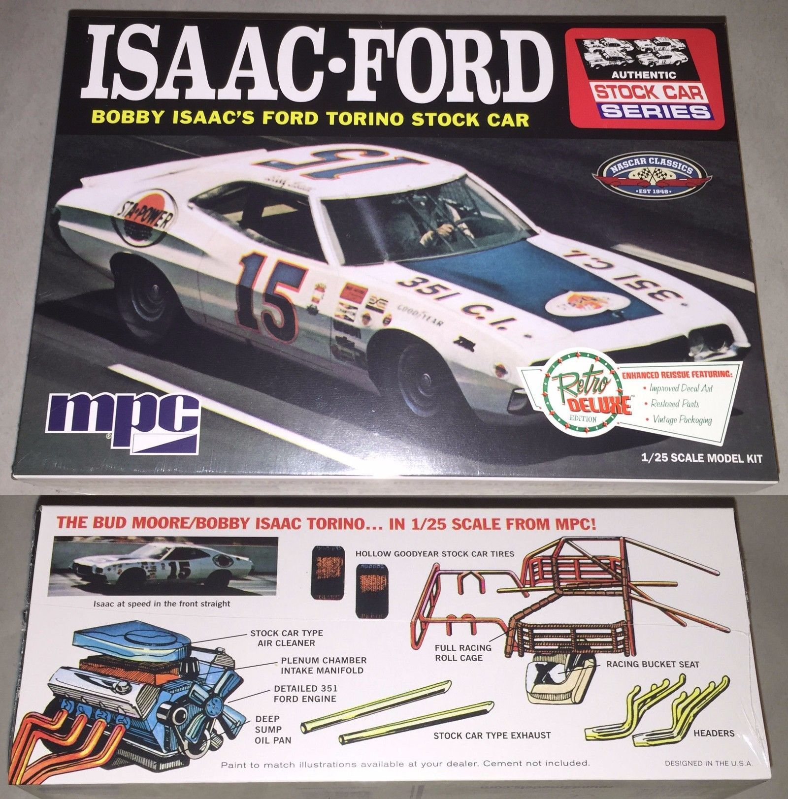 Nascar 145962 Mpc 1972 Ford Torino Stock Car Bobby Isaac 15 1 25