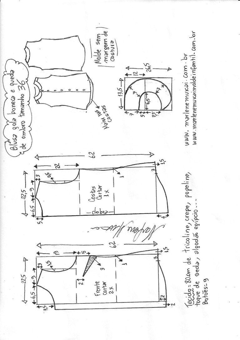 Patrones de una blusa sin manga (costura y corte) - Revista ...