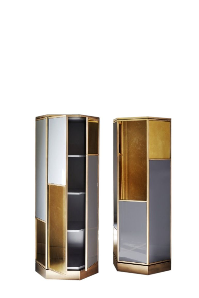 Ludwig Contemporary, Lacquer, Mirror, Wood, Bookcases tagere by ...