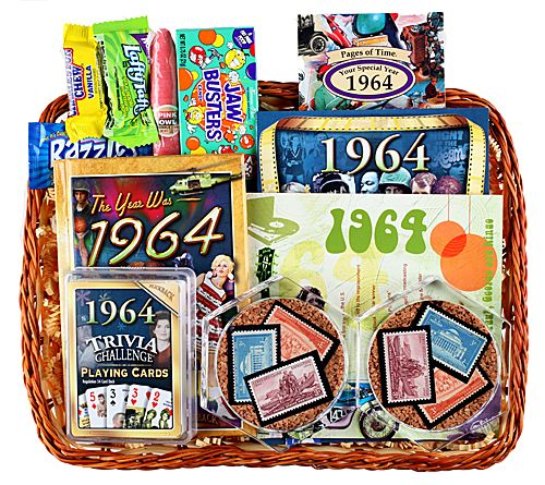 Gifts For 50th Wedding Anniversary Ideas: 50th Wedding Anniversary Gift Basket With Stamps