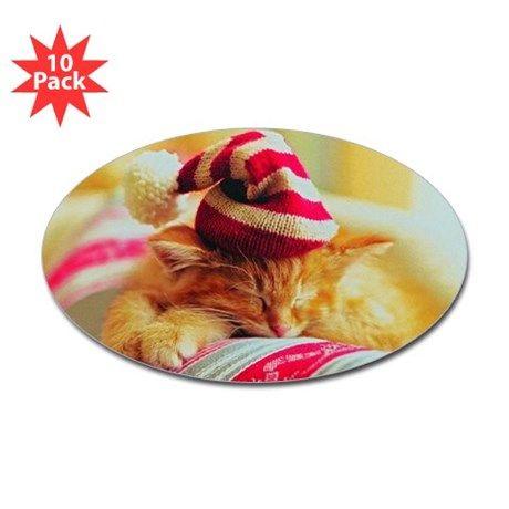 Christmas Kitty Decal on CafePress.com