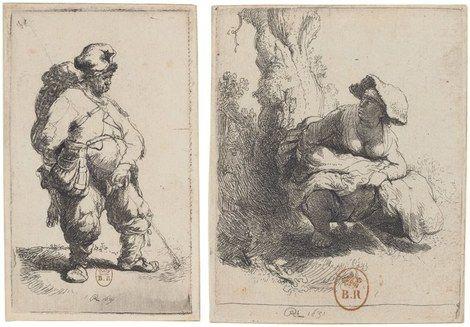 Drawings of men pissing