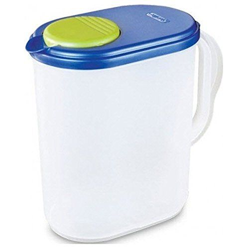 1 Gallon Pitcher Blue Lid W Lime Tab Freezer And Dishwasher Safe Mix Drinks Right In The Pitcher Water Tea Juices Bpa Free Mixed Drinks Dishwasher Safe Gallon