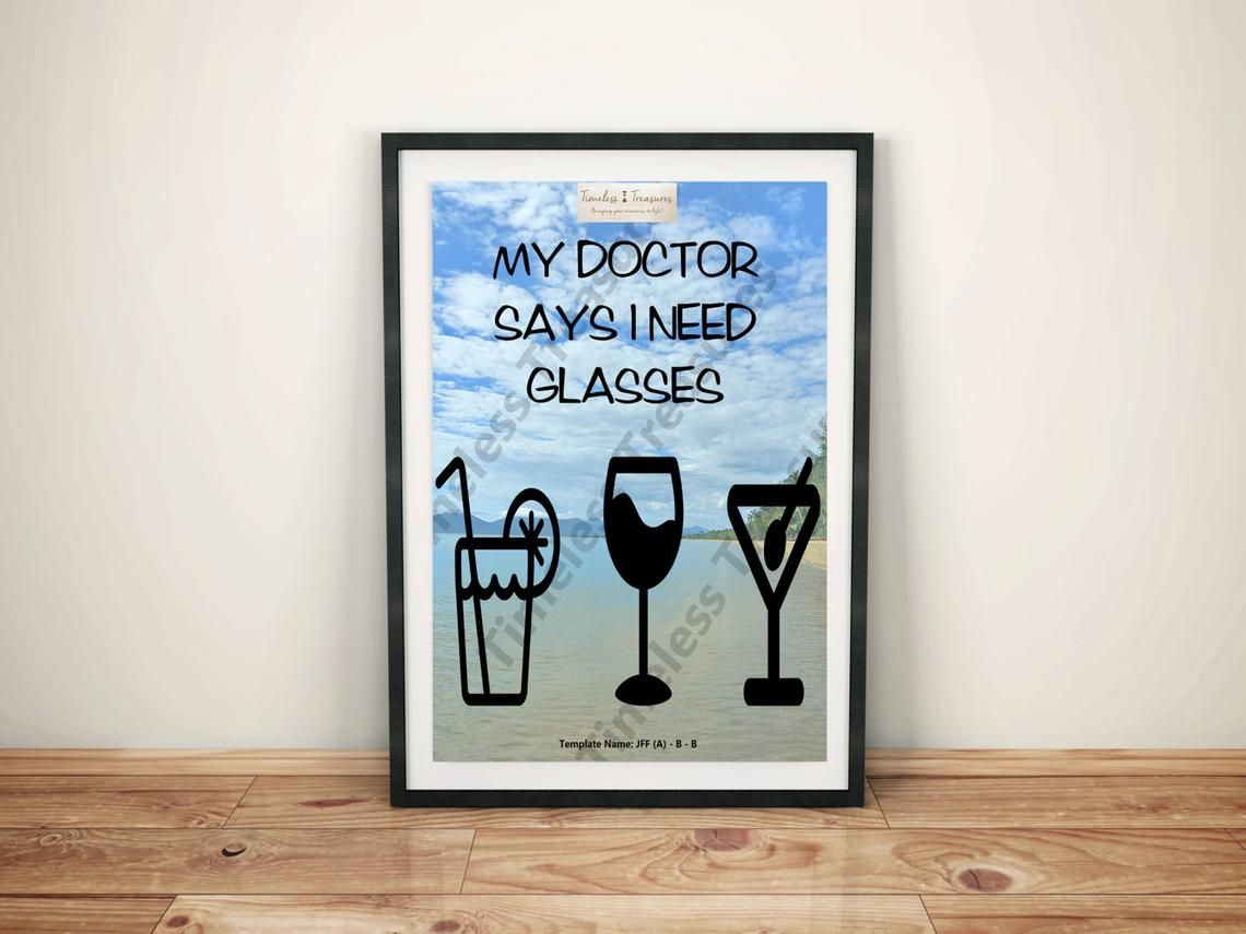 Just For Fun B My Doctor Says I Need Glasses Digital Etsy Art Day Timeless Treasures Prints