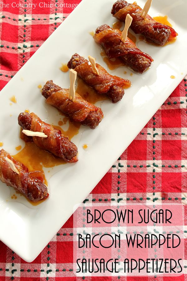 Brown Sugar Bacon Wred Sausage Easy Etizer Recipesparty